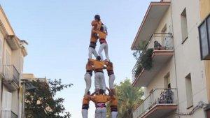 Els Bous de la Bisbal van descarregar el primer 4de7 a la festa major de Sant Pere de Ribes