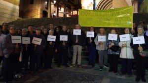 Els veïns reivindiquen una oficina bancària a la Part Alta de Tarragona.