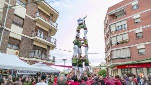 Els Xiquets d'Alcover van actuar dissabte a la Fira dels Bandolers