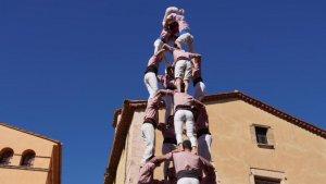 Els Xiquets de Tarragona van descarregar el 4de8 en la darrera actuació de l'any a Altafulla