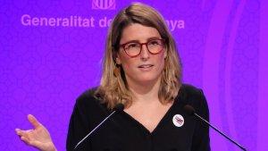 Elsa Artadi, durant la roda de premsa