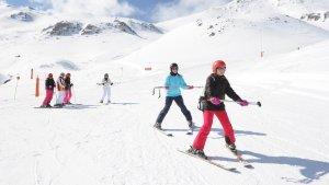 Esquiadores en Boí-Taüll, premiada como la mejor estación de España