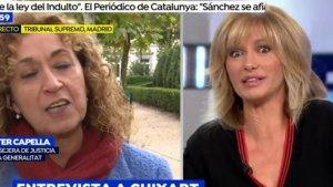 Esther Capella esbronca Susanna Griso per gravar a la presó de Lledoners