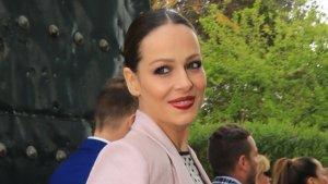 Eva González en la boda de su amigo Manuel Cabello