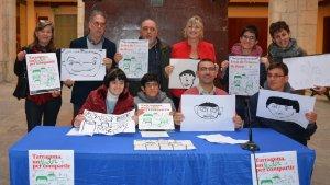 Foto de família, avui dimecres, durant la presentació de la campanya «Tarragona, un Nadal per compartir»