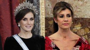 Fotomontaje de la reina Letizia con Begoña Gómez