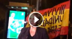 Glòria Serra va denunciar l'atac d'uns manifestants espanyolistes mentre gravava 'Els papers secrets de Franco'