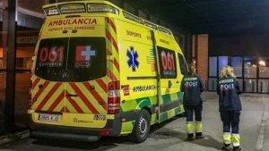 Imagen de archivo de una ambulancia SVA del 061 de Cantabria