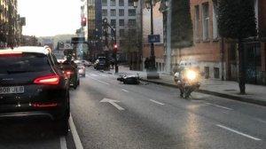 Imagen del accidente ocurrido en Oviedo