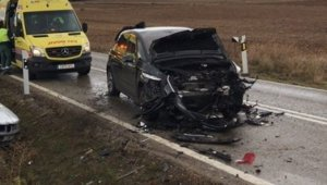 Imagen del accidente registrado en Madrid