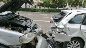 Imagen del choque sucedido en Sevilla