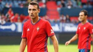 Imanol Garcia durant un partit amb el CA Osasuna