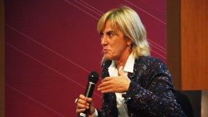 Imatge de Gemma Nierga durant la presentació del seu programa 'Els meus pares'