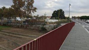 Imatge de la barana instal·lada al pont