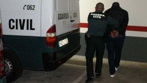 Imatge de la detenció de la Guàrdia Civil al Baix Ebre.