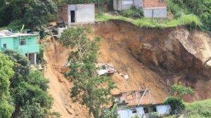 Imatge de l'esllavissada de dissabte al Brasil