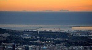 Imatge de l'illa de Mallorca vista des de l'Observatori Fabra de Barcelona l'any 2015