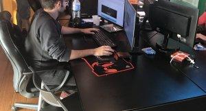Imatge del departament de tecnologia, a la redacció de Reus.