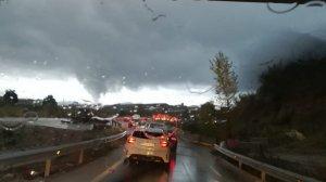 Imatge del possible tornado a Viladecavalls