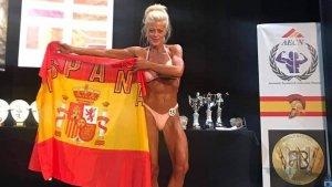 Imatge d'Eva Jaén campiona mundial de culturisme de menys de 52 kg