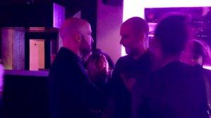 Jordi Graupera i Josep Guardiola, en una sala de concerts de la part alta de Barcelona