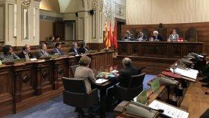 Just abans de començar el ple, l'exvicepresident de l'ens Josep Maria Cruset ha dirigit unes paraules de comiat als diputats presents a la sessió.