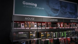 La secció de productes de 'gaming' és el principal reclam de la botiga BEEP Box