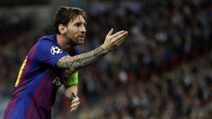 Leo Messi en un dels seus partits més recents amb la samarreta del Barça