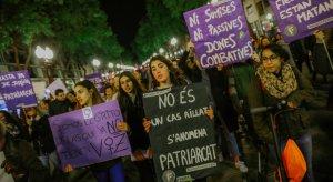 Manifestació del 25N en contra de la violència de gènere