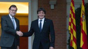 Mariano Rajoy i Carles Puigdemont, en una imatge d'arxiu