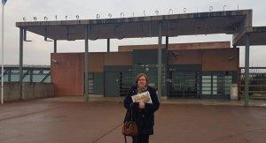 Perelló a les portes de la presó de Lledoners