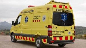 Un ambulància del SEM, en acció