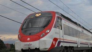 Un tren de RENFE en funcionament