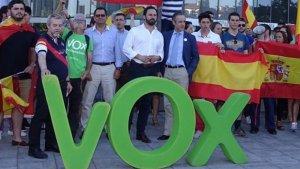 Una concentració de Vox per demanar l'alliberament de Nacho Mínguez.