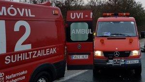 Una persona ha resultado herida en el choque entre un camión y varios vehículos en la A-15