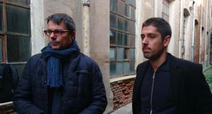 Xavi Matilla i David Cid a l'interior del Vapor Ros de Terrassa