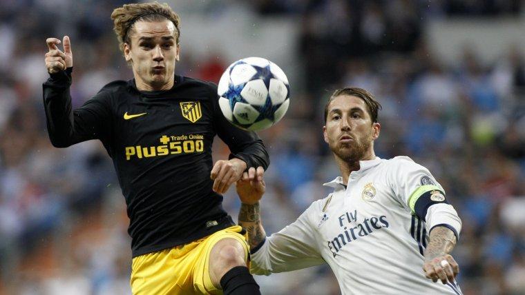 Antoine Griezmann i Sergio Ramos en un partit