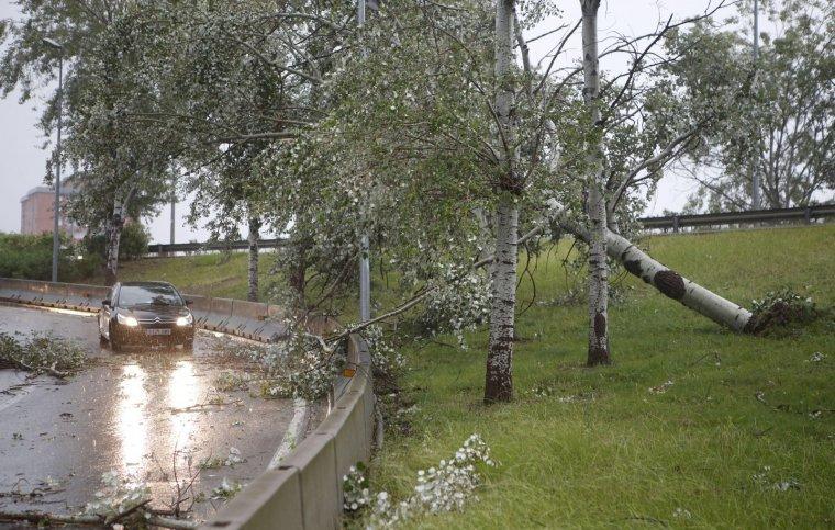 Conseqüències d'un aiguat recent a Terrassa