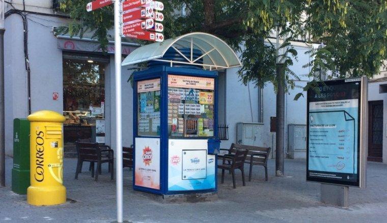 Punt de venda de l'ONCE de la plaça Catalunya