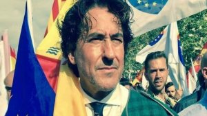Álvaro de Marichalar en una manifestación unionista en Barcelona
