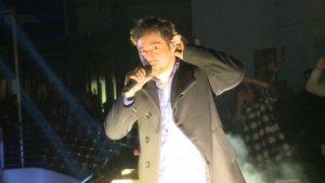 Bustamante durante su actuación en Valencia