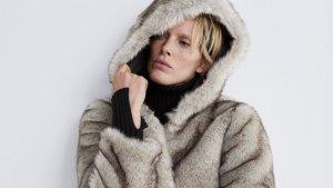Cazadora efecto pelo color natural de Zara, por 39,99 euros (antes 69,95 euros)
