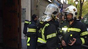 Cinco dotaciones de los Bomberos del Ayuntamiento de Madrid han acudido al lugar