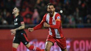 Cristhian Stuani, amb un doblet, va decidir l'últim partit entre el Girona i l'Athletic Club (2-0 a Montilivi).