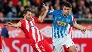 Cristhian Stuani ha avançat el Girona a la primera meitat del partit.