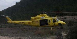 El escalador fue trasladado en helicóptero a dependencias de la Policía Local de Elda