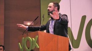 El president de Vox, Santiago Abascal, a Bilbao