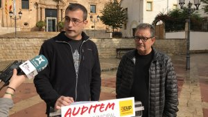 El regidor de la CUP a Torredembarra, Toni Sacristan, ha explicat el posicionament de la CUP aquest dijous al migdia.