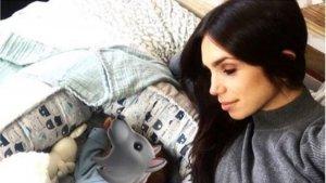 Elena Furiase en una foto junto a su hijo, Noah