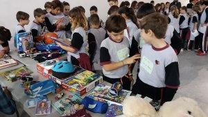 Els escolars, en total, van portar al Mercat 745 objectes i van intercanviar 526 d'ells (el 71%)